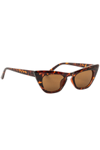 SLIM LINE CAT SUNGLASSES in colour TORTOISE SHELL