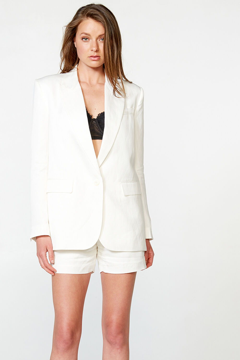 RELAXED BLAZER in colour CLOUD DANCER