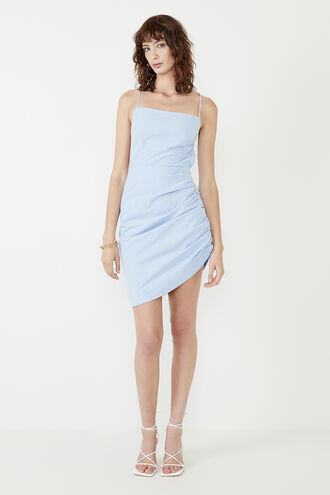 CINDY DREAMER DRESS in colour CERULEAN