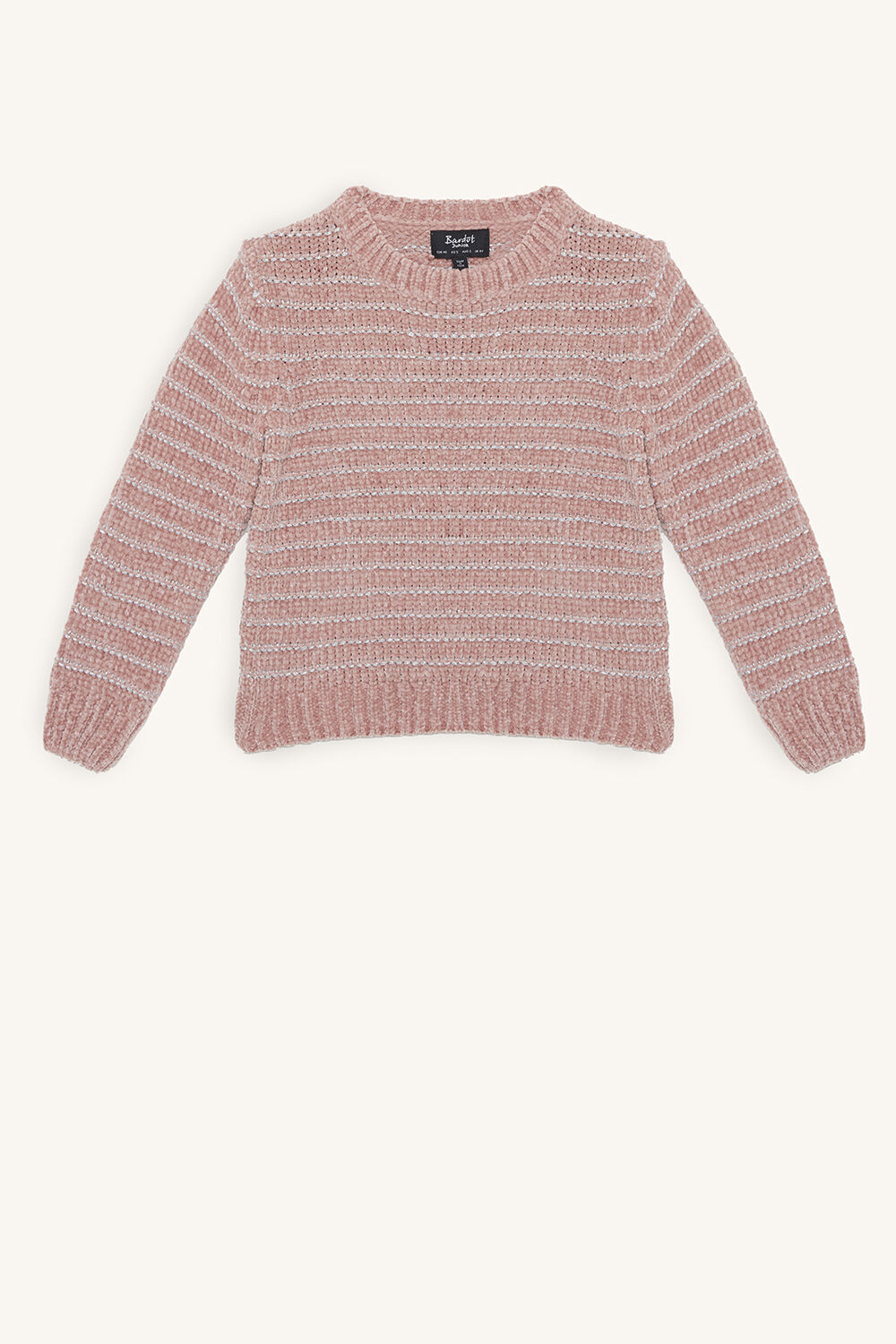 ROSE SHIMMER KNIT in colour SILVER PINK