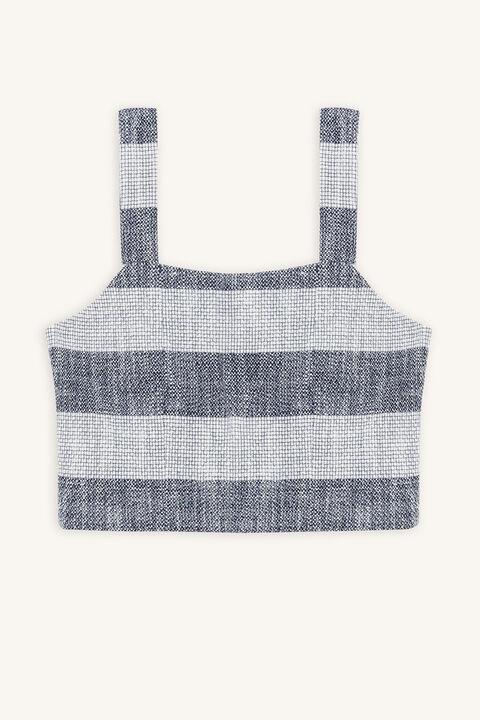 Tween girl leah textured top in colour ALMOND OIL