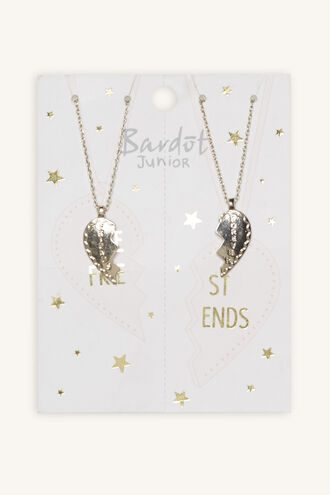 FRIENDS FOREVER NECKLACE SET in colour SILVER