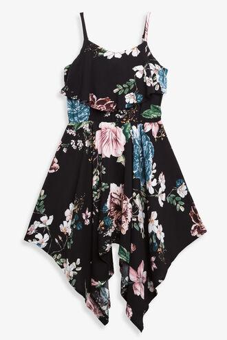 HANKY HEM DRESS in colour BITTERSWEET