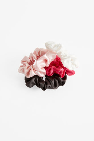 4PK SCRUNCHIE SET in colour BRIGHT WHITE
