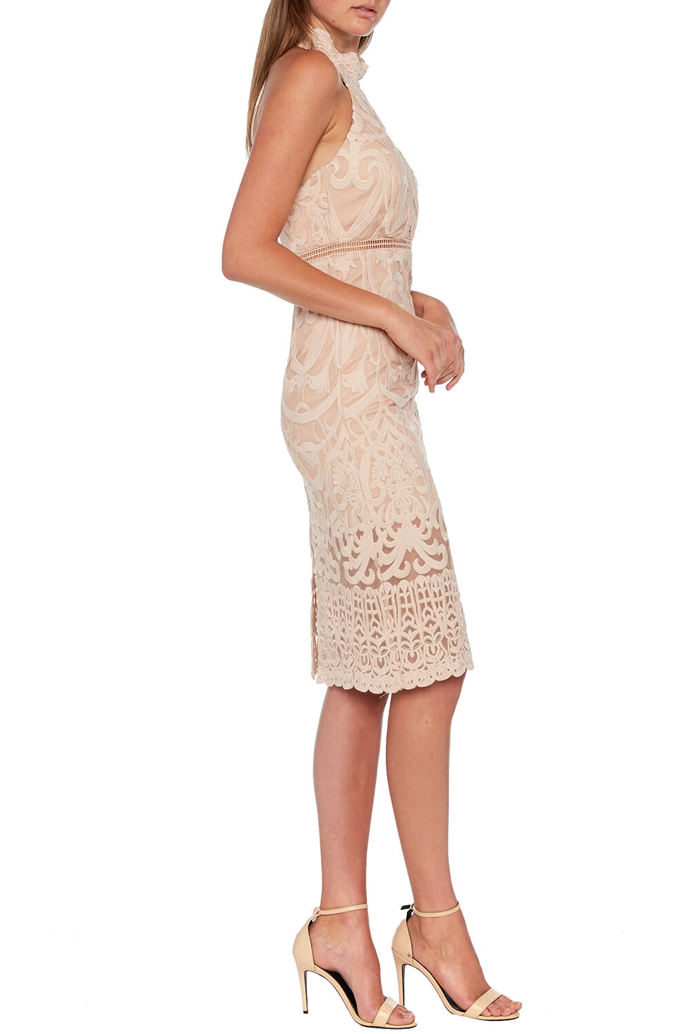 HANA LACE DRESS in colour PALE DOGWOOD
