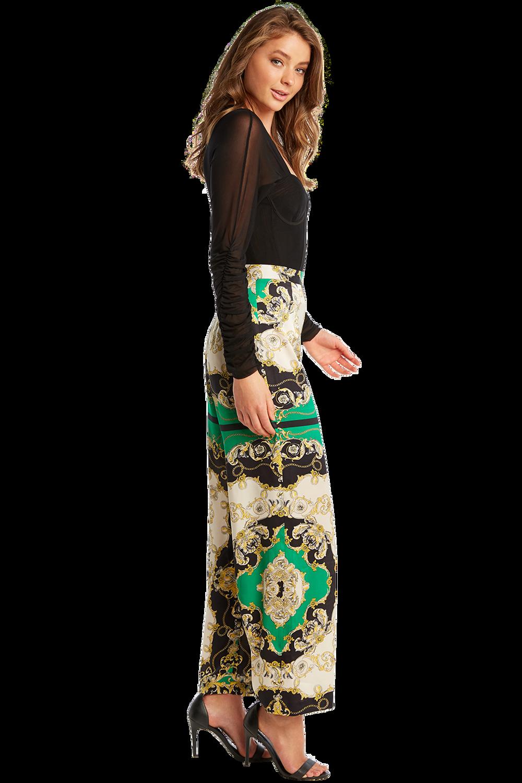 MESH LONG SLEEVE BODYSUIT in colour CAVIAR