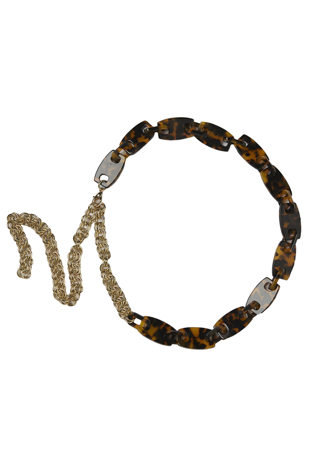 TORTOISE CHAIN BELT in colour TORTOISE SHELL