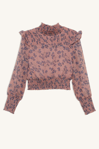 SELMA SHIRRED BLOUSE in colour ZEPHYR