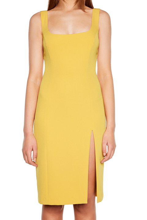 LEILA DRESS in colour MISTED YELLOW
