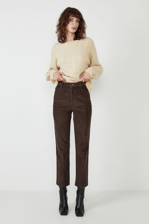 UTILITY CORD PANT in colour CHOCOLATE BROWN