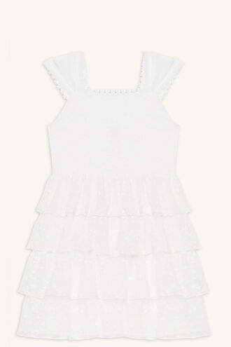 SAGE RARA DRESS in colour CLOUD DANCER