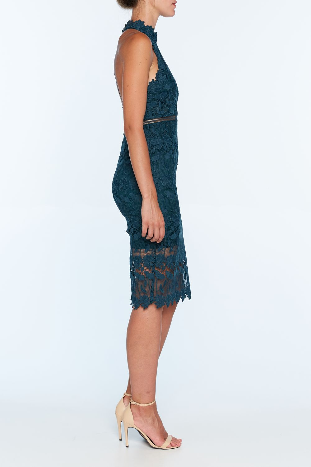 NONI HALTER DRESS in colour MAJOLICA BLUE