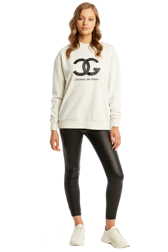 CG CREW NECK SWEATER in colour PALOMA