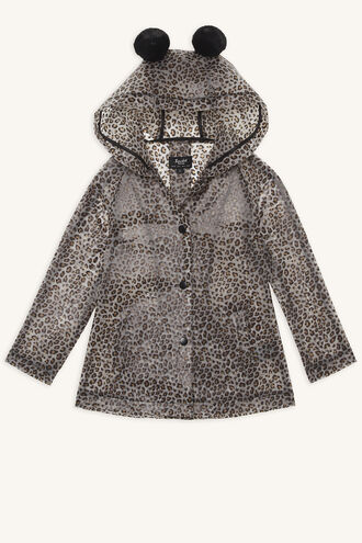 LEOPARD ANORAK JACKET in colour BEIGE