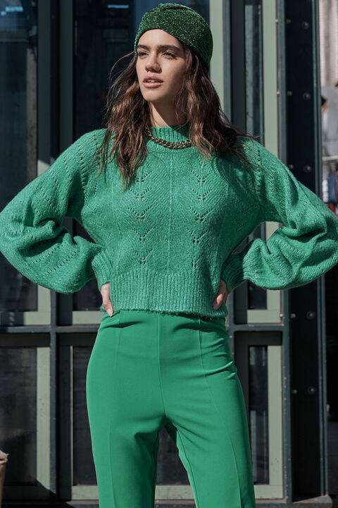 MAISEY KNIT in colour PEPPER GREEN