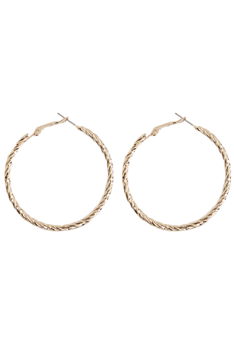 TWIST HOOP in colour GOLD EARTH