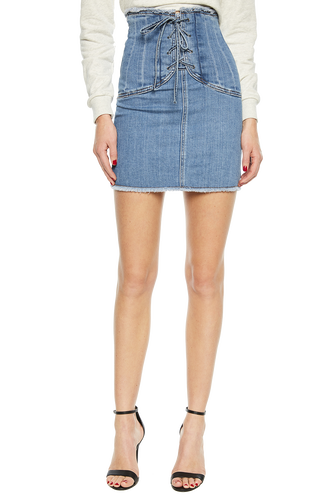 CORSET DENIM SKIRT in colour CITADEL