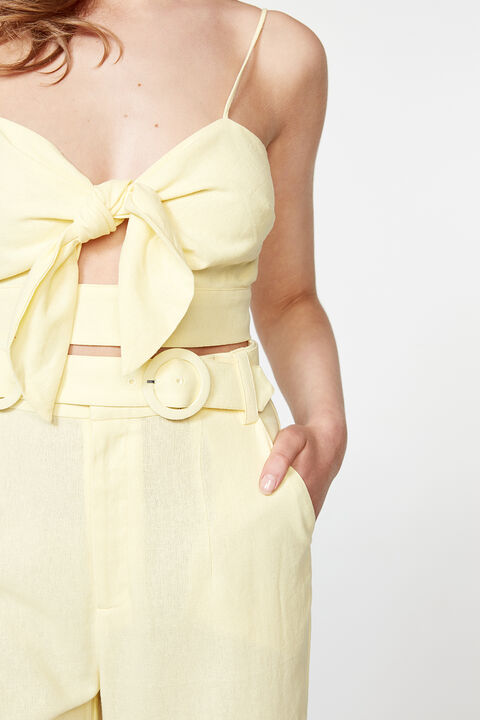 BEVERLY TIE TOP in colour SUNSHINE