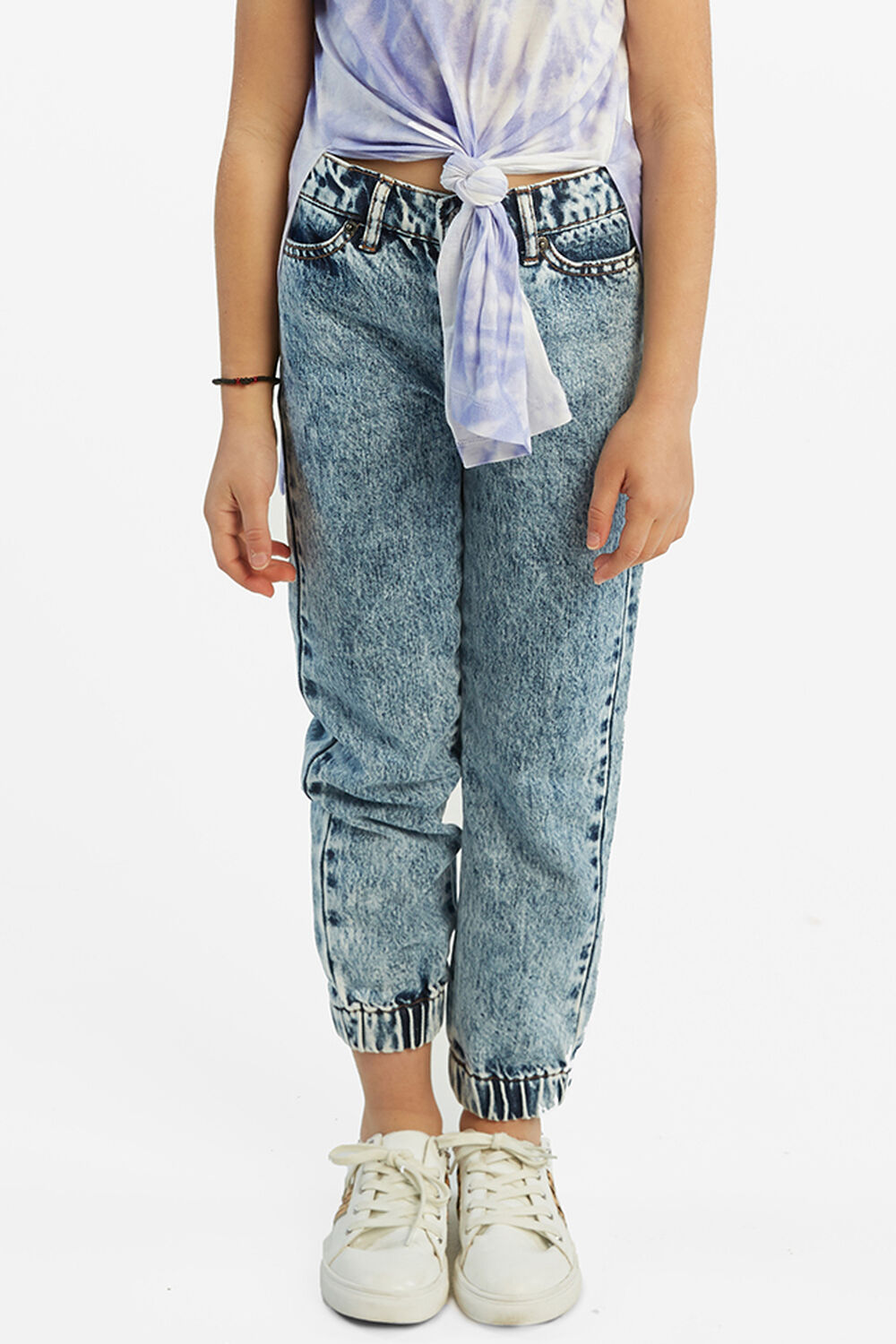 ACID WASH CUFF JEAN in colour BRIGHT WHITE