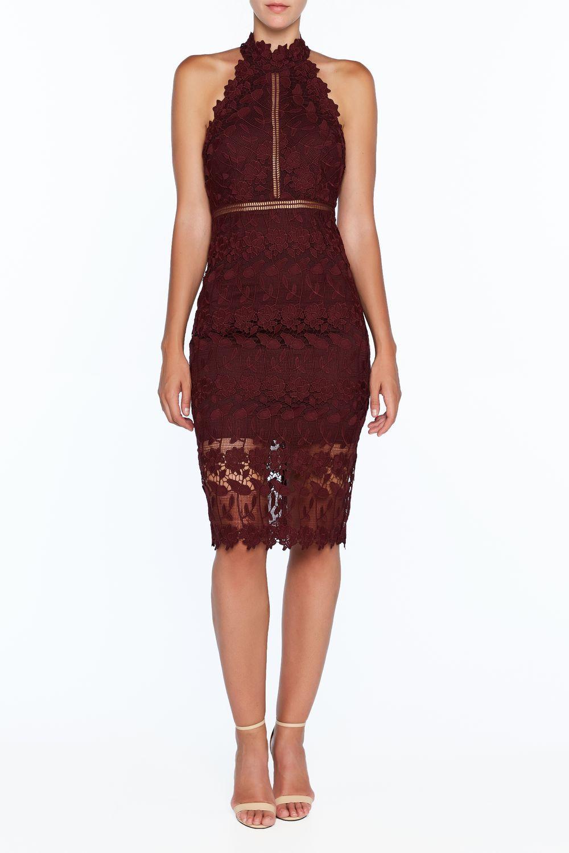 NONI HALTER DRESS in colour WINETASTING