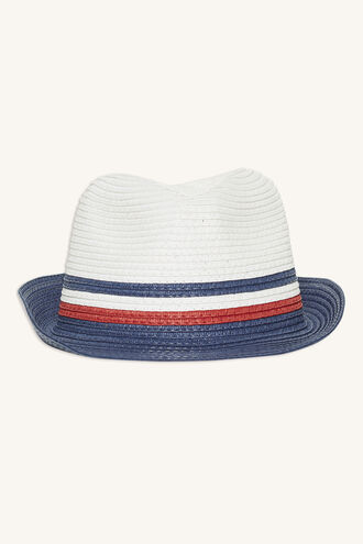 STRIPE FEDORA in colour BLACK IRIS