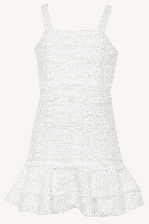 MELANIA BOUCLE DRESS in colour BRIGHT WHITE