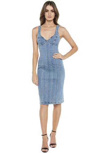 MIAMI DENIM DRESS in colour CITADEL