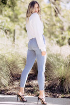 COSY CROP CARDI in colour CLOUD DANCER
