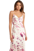 TIE DYE SLIP DRESS in colour BRIGHT VIOLET