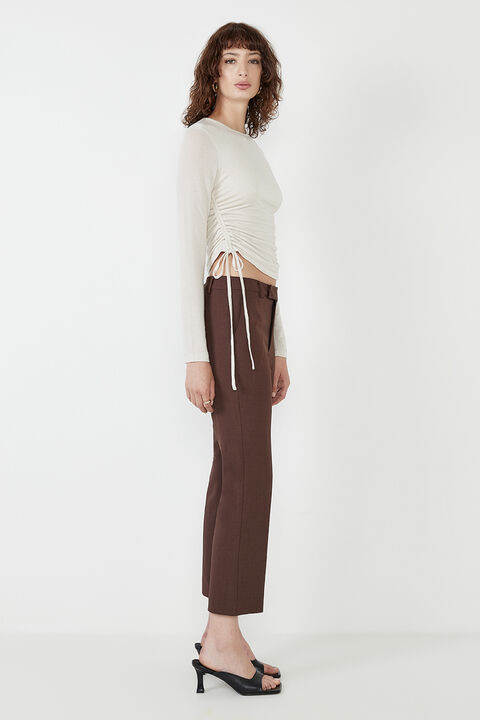 KATE KNIT ROUCHED TOP in colour MOONLIGHT