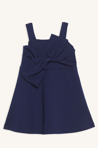 SABE BOW DRESS in colour PATRIOT BLUE