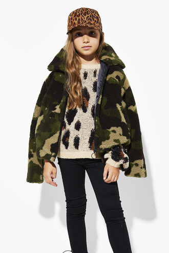 CAMO FUR JACKET in colour CAVIAR