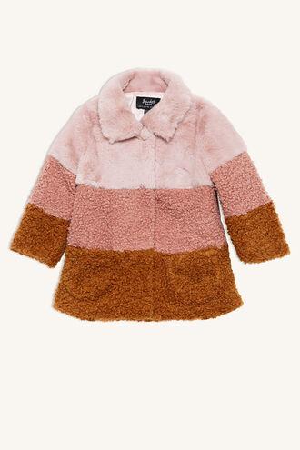MONIQUE SPLICED COAT in colour SHELL