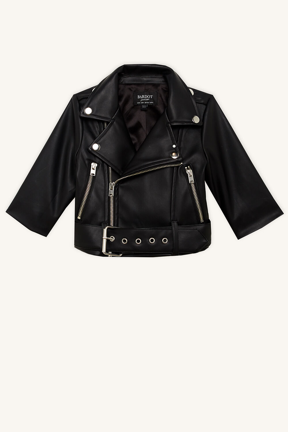 JONNY BIKER JACKET in colour CAVIAR