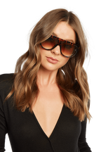 WRAP SUNGLASSES in colour TORTOISE SHELL