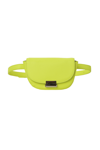 TEXT BELT BAG in colour YELLOW CREAM