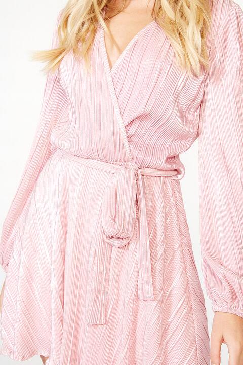 BELLISSA PLEAT DRESS in colour DELICACY