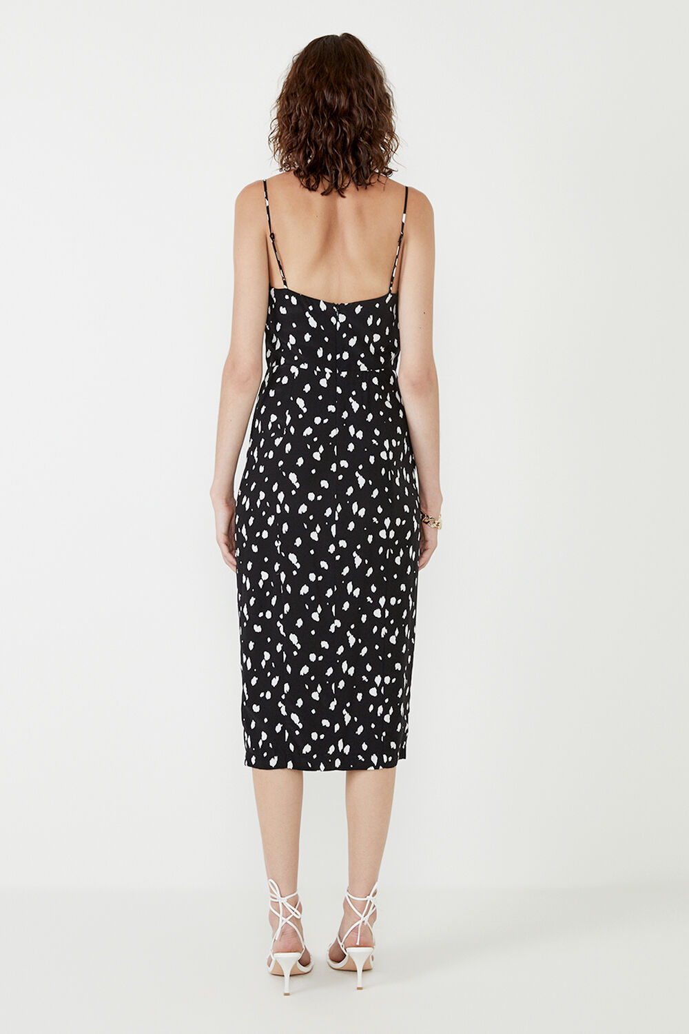 GRAPHIC SPOT MIDI DRESS  in colour TAP SHOE