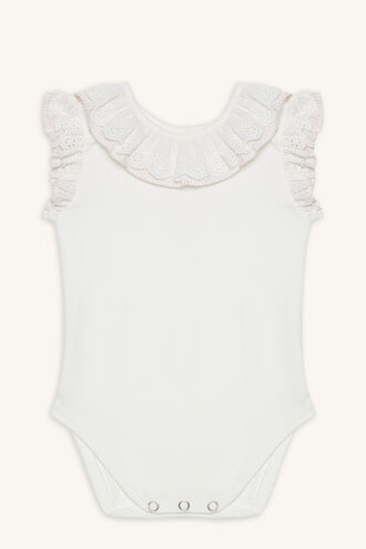 FRILLY NECK GROW in colour BRIGHT WHITE