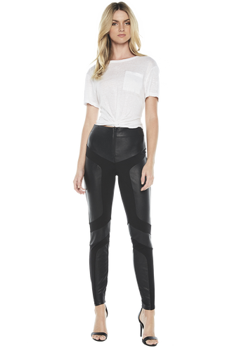 SPLICED PONTE PANT in colour CAVIAR