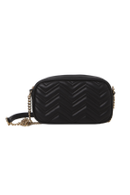 QUILTED PURSE BAG in colour METEORITE