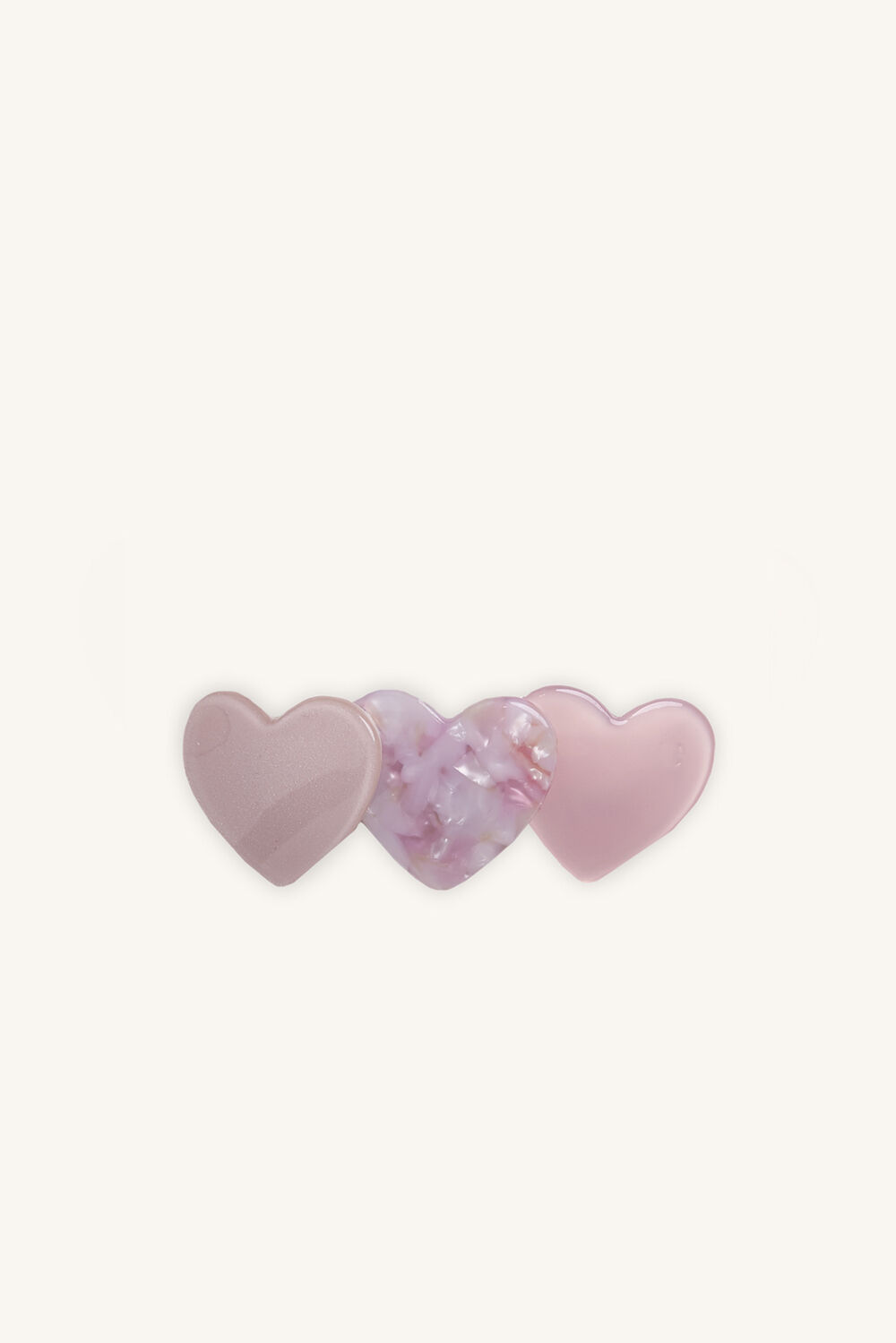 3 OF HEARTS CLIPS in colour PINK CARNATION