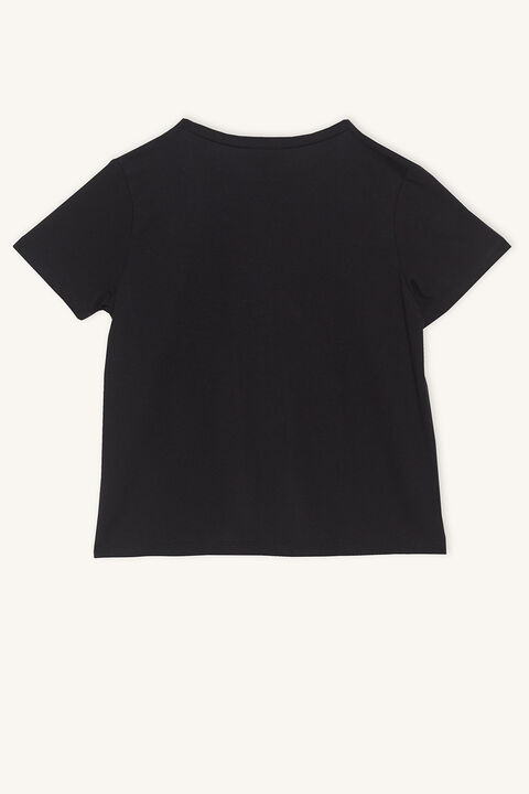 GIRLS CLUB TEE in colour JET BLACK