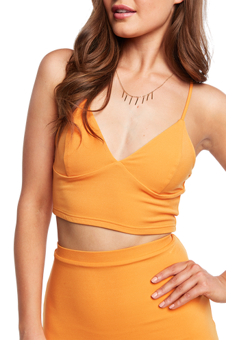 ELLIS BRALETTE TOP in colour FLAME ORANGE