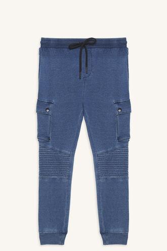 CARGO INDIGO TRACK PANT in colour DRESS BLUES