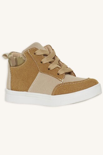 CONTRAST CAMO SNEAKER in colour BEIGE