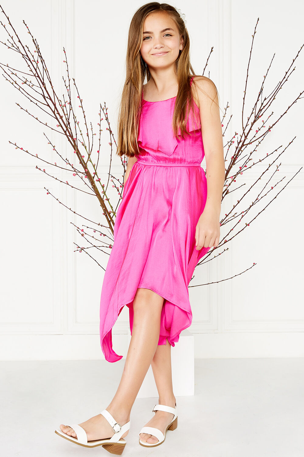 MILA HANKY DRESS in colour SHOCKING PINK