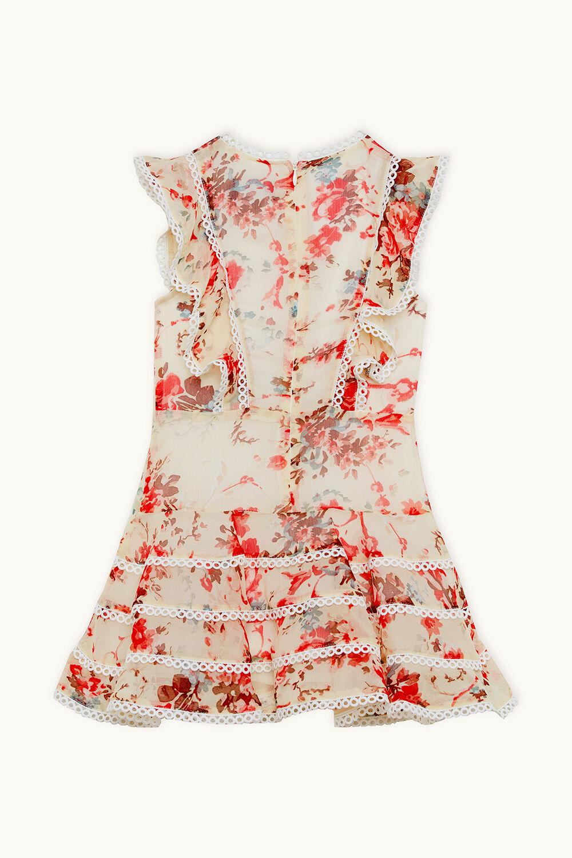 SADIE TRIM DRESS in colour CLOUD DANCER