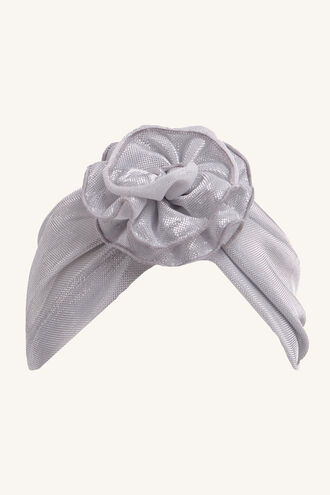 FLOWER TURBAN in colour SILVER