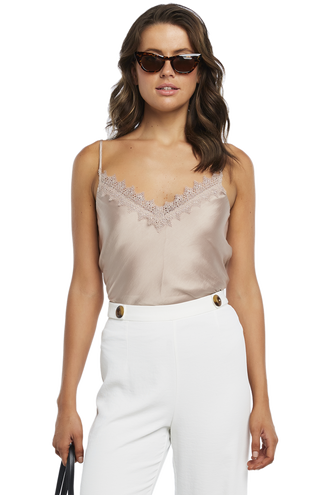 LACE TRIM CAMI in colour MOONLIGHT